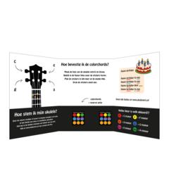Set van ukulele, colorchords en gigbag