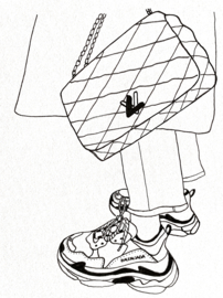 Tote Shopper BL   Louis Vuitton X Balenciaga