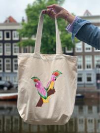 Tote Shopper CLRS   Paradise Birds
