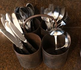metalen bakjes 4 aan ring