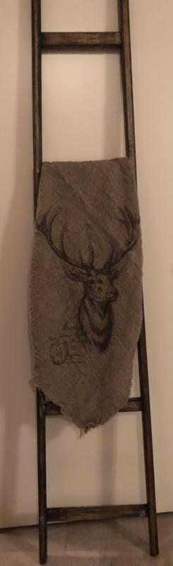 shabby doek groot 1m/1m met hert