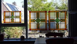 Drie-luik glas-in-lood
