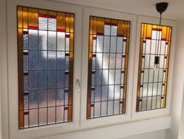 Glas in lood dakkapel en woonkamer
