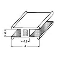 Loodprofiel H8-staal / 2 meter