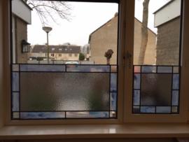 Glas-in-lood tegen inkijk