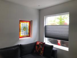 Glas-in-lood woonkamer en hal