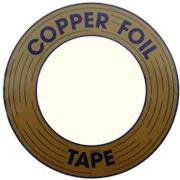 Edco koperfolie 12,7 mm 1/2 zilver