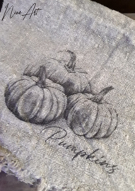 Shabby doek Pumpkins