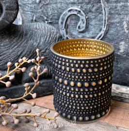 Black&gold windlicht S