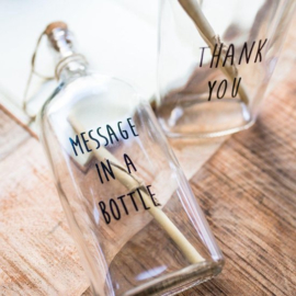 Flessenpost: Thank you/Message in a bottle