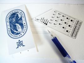 Calligraphy Ruler - Spencerian  Script
