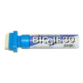 Kuretake ZIG Posterman Biggie 30 Short Marker - 30 mm Breed - Lichtblauw