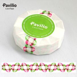 Pavilio Lace Washi Tape - Beans  Green