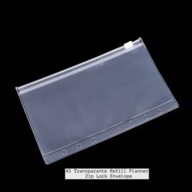 A5 Transparante  Zip Lock Envelope