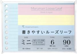 Navullingen voor Maruman Mini Binders
