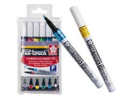 Sakura Pen-Touch Permanent Marker - Fijn  0.1mm  - Set van 6