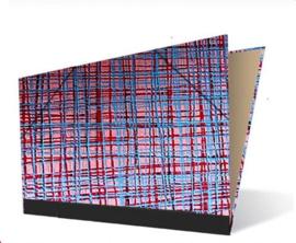 Tekenmap 25 x 35cm | Spirito  Rood / Blauw  № 10