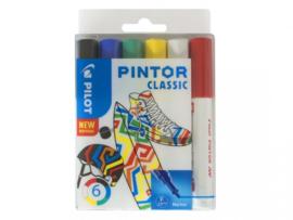 "Pilot  Pintor Pigmentmarkers 2.9 mm / Fine Tip set van 6 ""Classic Mix"""