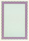 Diploma / Certificaat Papier  Schelp Turkoois Paars,   25 Vel Formaat A4  = 210 x 297 mm 115g/m²