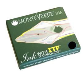 Monteverde Set van 6 Standaard Inktpatronen. Zwart