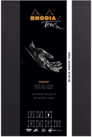 Rhodia Zwart  Maya Pad A4+ Cross #116113C