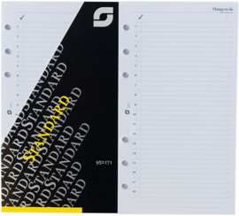 """Standaard / Personal formaat 95 x 170mm  Succes """"To Do"""" Wit  100g/m² Notitiepapier"""