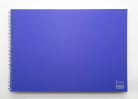 A3 Teken & Schetsboek 70 Vel 120g/m² Blanco Wit  Papier. Omslag Violet