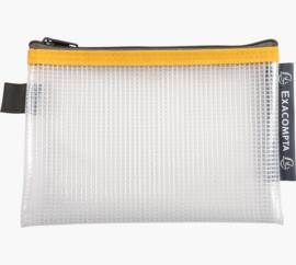 Transparante Zipperbags ft A6 | Geel