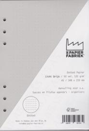 Aanvulling A5 geschikt voor o.a. Filofax, Succes Losbladige Planners 50 Vel, 120gr/m² Dotted Licht  Grijs Papier