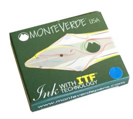Monteverde Set van 6 Standaard Inktpatronen. Blauw.