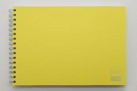 A4 Teken & Schetsboek  70 Vel 120g/m² Blanco Wit Papier. Omslag Geel