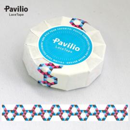 Pavilio Lace Washi Tape - Honeycomb Blue