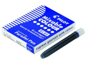 Parallel Pen Inkt Cartridges  Doosje met 6 Patronen  - Blauw
