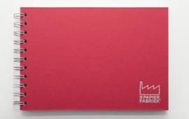 A5 Tekenblok / Schetsboek 70 Vel 120g/m² Blanco Wit Papier. Omslag Rood