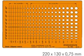 Sjabloon 230 Mini Ellipsen    # 1163