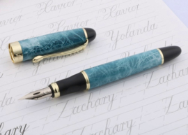 Jinhao Blauw X450 Zebra G-Nib Kalligrafeer Vulpen + Extra  1 Zebra G-Nib Titanium