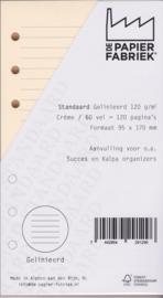 Standaard / Personal formaat 170 x 95mm  Gelinieerd  Crème 120g/m² Notitiepapier 120 Pagina's