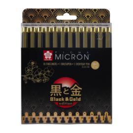 Pigma Black & Gold Edition Set 12