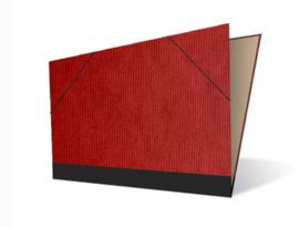 Tekenmap 50 x 70cm   Vergé Rood  № 22