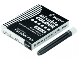 Parallel Pen Inkt Cartridges  Doosje met 6 Patronen  - Zwart