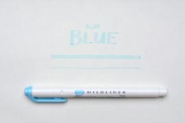 Zebra Mildliner Double-Sided Highlighter - Fine / Bold - Mild Blue