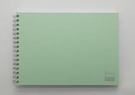 A4 Teken & Schetsboek  70 Vel 120g/m² Blanco Wit Papier. Omslag Mint Groen