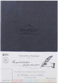 Tomoe River Paper Dotted A5 Notebook 184 Vel = 368 Pagina's Hard Cover, 52g/m2 Wit Papier
