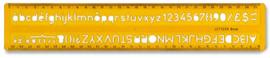 Arda Lettersjabloon  Verticaal 8mm. UNI normen.