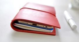 Notitieboek Smart Voyageur geschikt voor een Smartphone - Rood