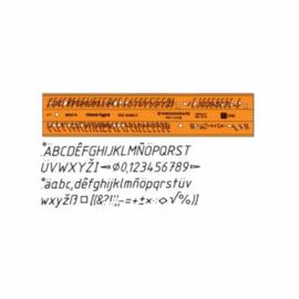 Letter Sjabloon Cursief 2,5mm   # 61055