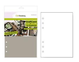 Aanvulling A5 geschikt voor o.a. Filofax, 6-Rings Losbladige Planners 12 Vel, 220g/m² `Lichtbruin Karton