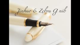 Jinhao Wit  X450 Zebra G-Nib Kalligrafeer Vulpen + Extra  1 Zebra G-Nib Titanium