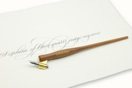 Handwritmic Oblique Walnut Wood Penhouder voor de Nikko G Nib