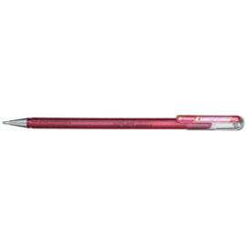 Pentel Hybrid Dual Metallic Shimmering Gel Pen - 1.0 mm - Rose / Metallic Pink